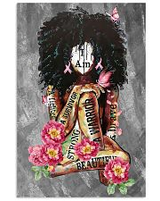 Black Breast Cancer 11x17 Poster front