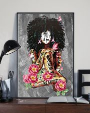 Black Breast Cancer 11x17 Poster lifestyle-poster-2