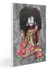 Black Breast Cancer Gallery Wrapped Canvas Prints tile