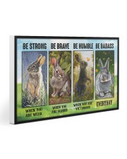 Rabbit - Be Strong  30x20 Gallery Wrapped Canvas Prints thumbnail
