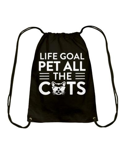 Life goal cat t-shirt