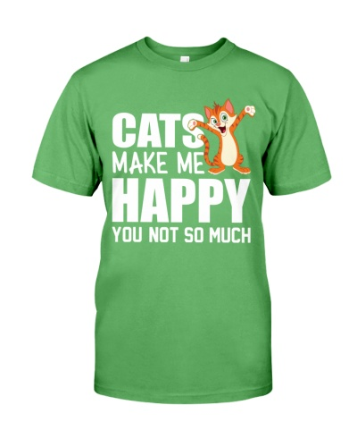 cats makes me happy tshirt
