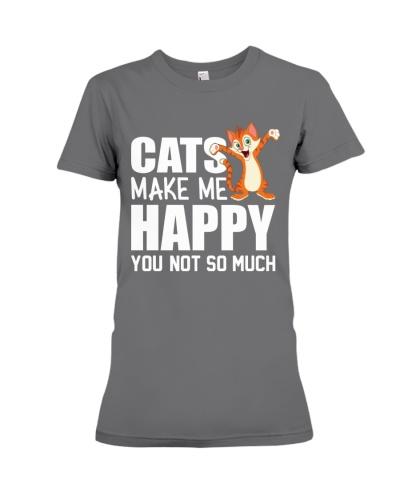 cats makes me happy tshirt