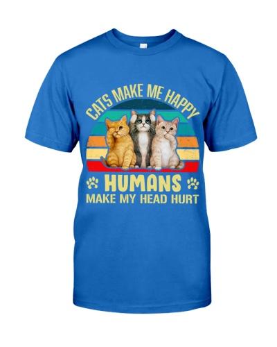 Cats make me happy t-shirt