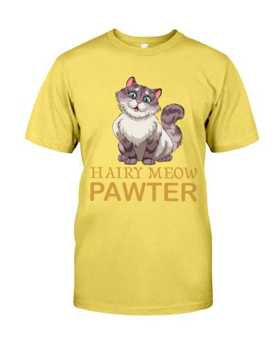 HAIRY meow cat t-shirt