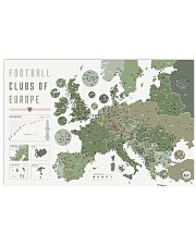 Football Clubs Of Europe 36x24 Poster front