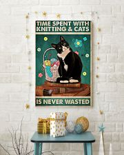 Time spent with knitting and cats is never wasted 11x17 Poster lifestyle-holiday-poster-3