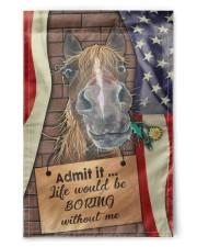 """Flag for Horse lovers 11.5""""x17.5"""" Garden Flag front"""