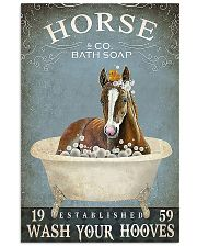 Horse and co bath soap 11x17 Poster front