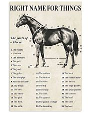 Right name for things Horse lover 11x17 Poster front