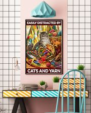 Easily distracted by cats and yarn     11x17 Poster lifestyle-poster-6