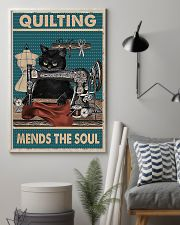 Quilting mends the soul 11x17 Poster lifestyle-poster-1