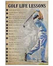 Golf life lesson 11x17 Poster front