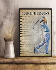 Golf life lesson 11x17 Poster lifestyle-poster-3