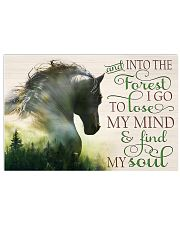 And into the forest I go Horse lovers 17x11 Poster front