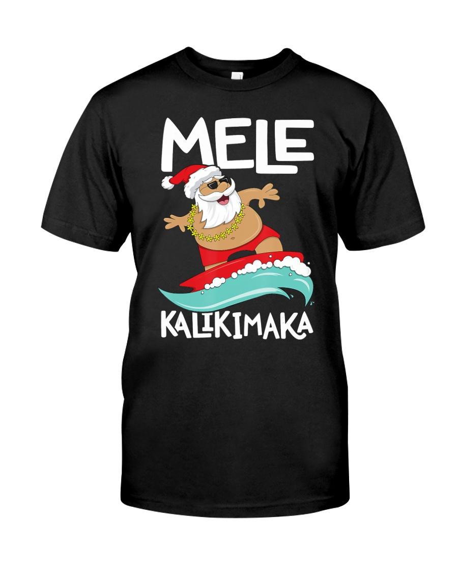 Mele Kalikimaka Hawaiian Christmas Hawa Classic T-Shirt