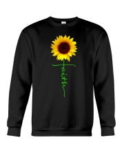 Christian Faith Cross Sunflower Christmas Gi Crewneck Sweatshirt thumbnail