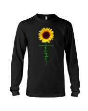 Christian Faith Cross Sunflower Christmas Gi Long Sleeve Tee thumbnail