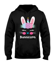 Bunnicorn Shirt Cute Bunny Rabbit Unic Hooded Sweatshirt thumbnail