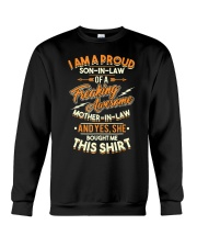 Mens Proud Son In Law Of A Freaking Aweso Crewneck Sweatshirt thumbnail