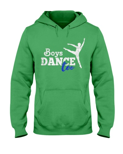 Boys Dance Too Ballet Dancer T-Shirt I Funny