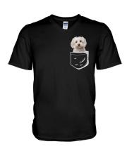 MALTESE POCKET V-Neck T-Shirt thumbnail