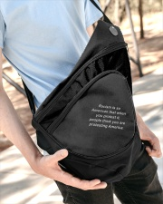 Racism is American Sling Pack garment-embroidery-slingpack-lifestyle-08