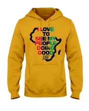 I LOVE TO SEE MY PEOPLE DOING GOOD AFRICA Hooded Sweatshirt thumbnail