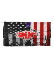 Paramedic American flag face mask Cloth face mask front