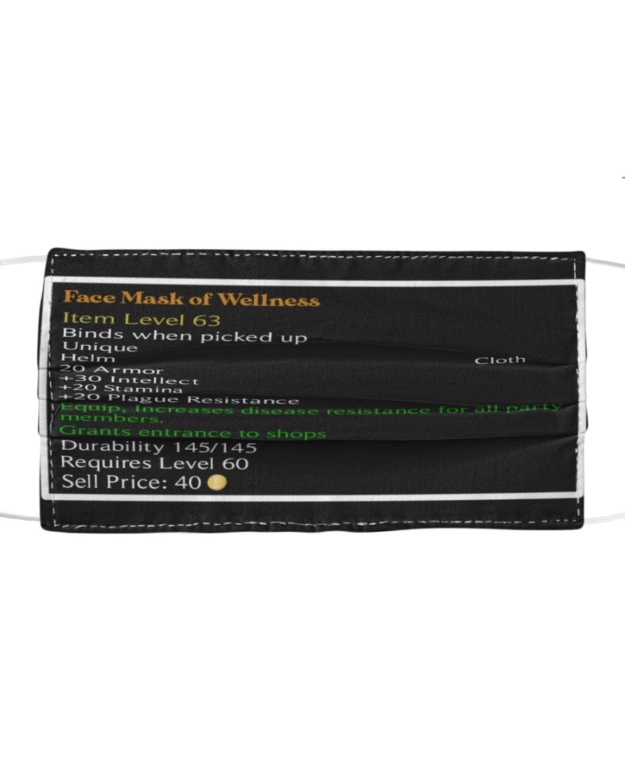 Face Mask of Wellness 3D mask Cloth face mask