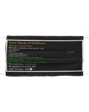 Face Mask of Wellness 3D mask Cloth face mask front