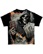 skull poker  All-over T-Shirt back