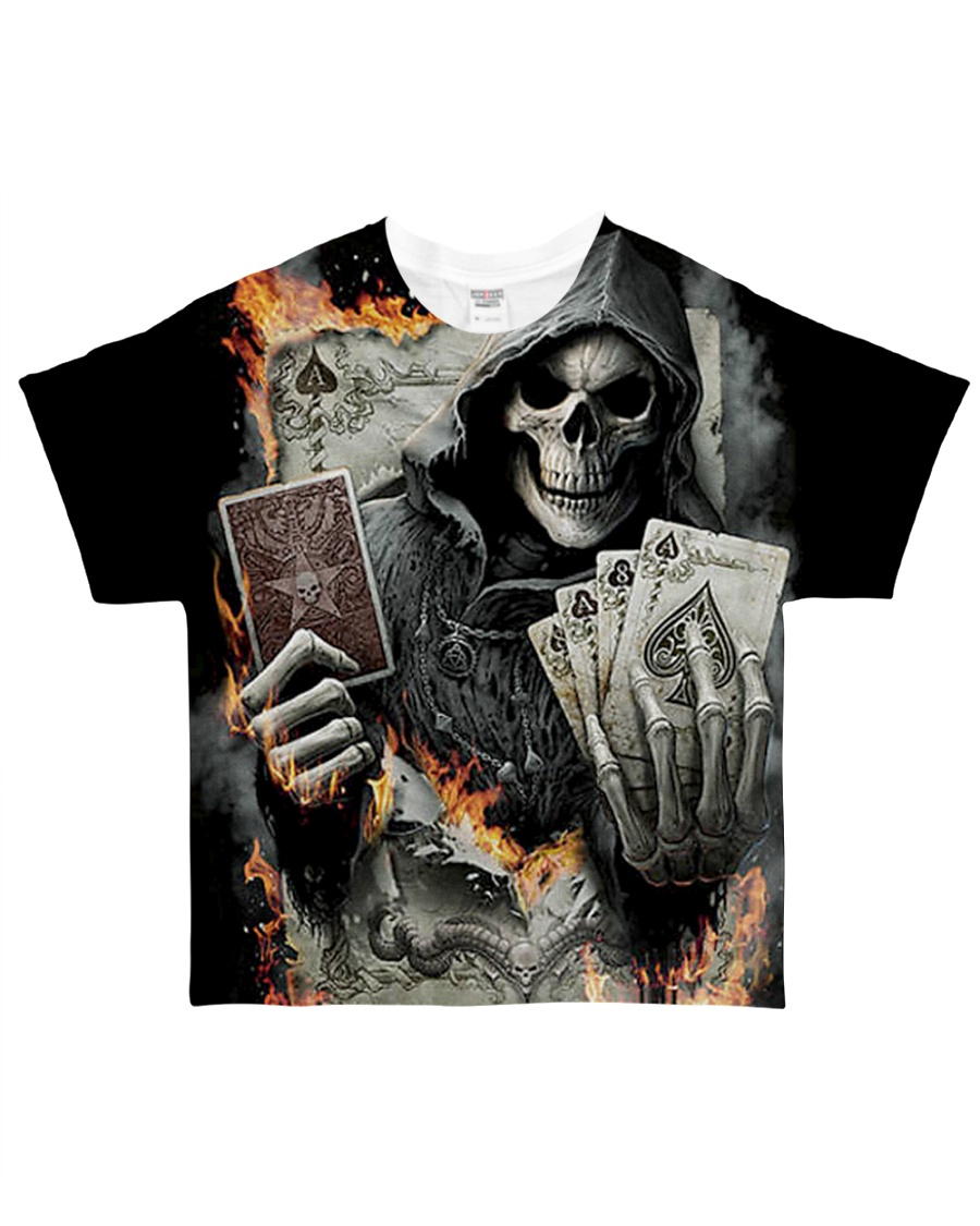 skull poker  All-over T-Shirt
