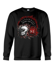 Red Red White white forever forever Crewneck Sweatshirt thumbnail