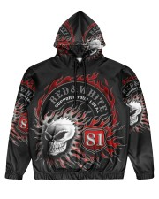 Red Red White white forever forever Men's All Over Print Hoodie tile