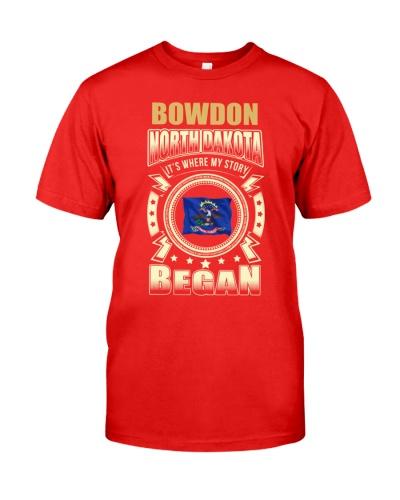 Born in Bowdon-ND Flag gifts Shirt