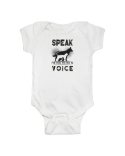 Speak for those who have no voice Onesie thumbnail