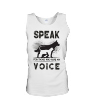 Speak for those who have no voice Unisex Tank thumbnail