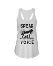 Speak for those who have no voice Ladies Flowy Tank thumbnail