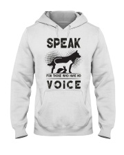Speak for those who have no voice Hooded Sweatshirt thumbnail