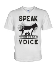 Speak for those who have no voice V-Neck T-Shirt thumbnail