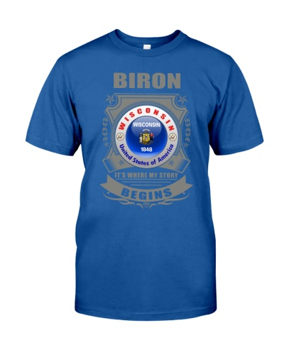Biron-WI flag love gifts Shirt