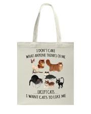 I DON'T CARE Tote Bag thumbnail