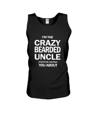 I'M THE CRAZY BEARDED UNCLE Unisex Tank thumbnail