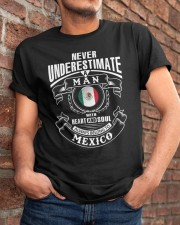 HEART AND SOUL ALWAYS BELONG TO MEXICO Classic T-Shirt apparel-classic-tshirt-lifestyle-26