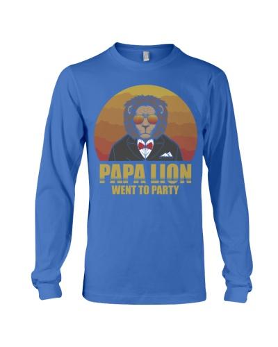 Papa Lion in Retro Style