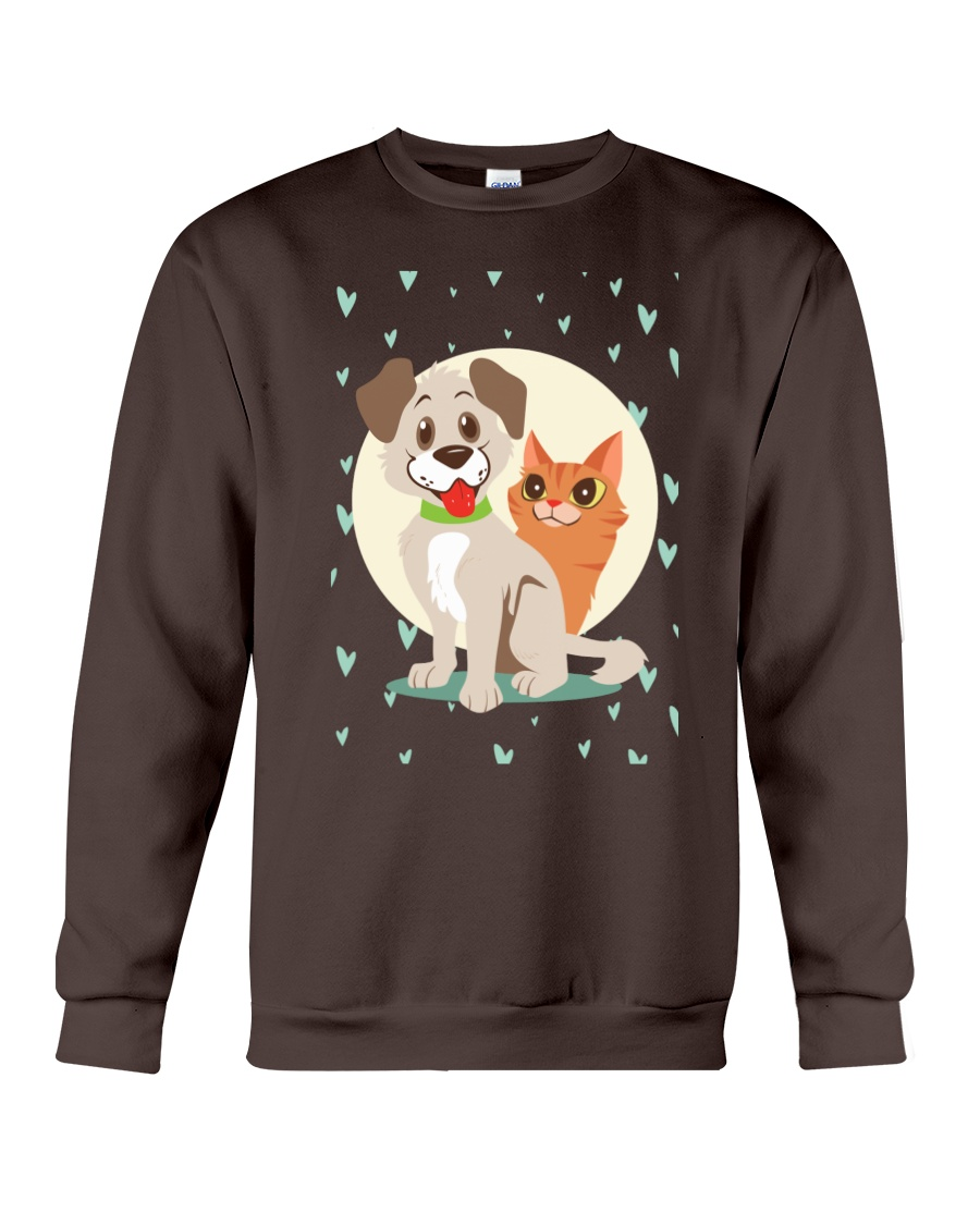 dog cat lover gifts Crewneck Sweatshirt