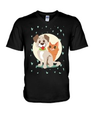 dog cat lover gifts V-Neck T-Shirt thumbnail