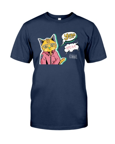 Hipster Comic Character Cat Pop