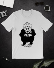 Funny Quotes On Stomach Classic T-Shirt lifestyle-mens-crewneck-front-16
